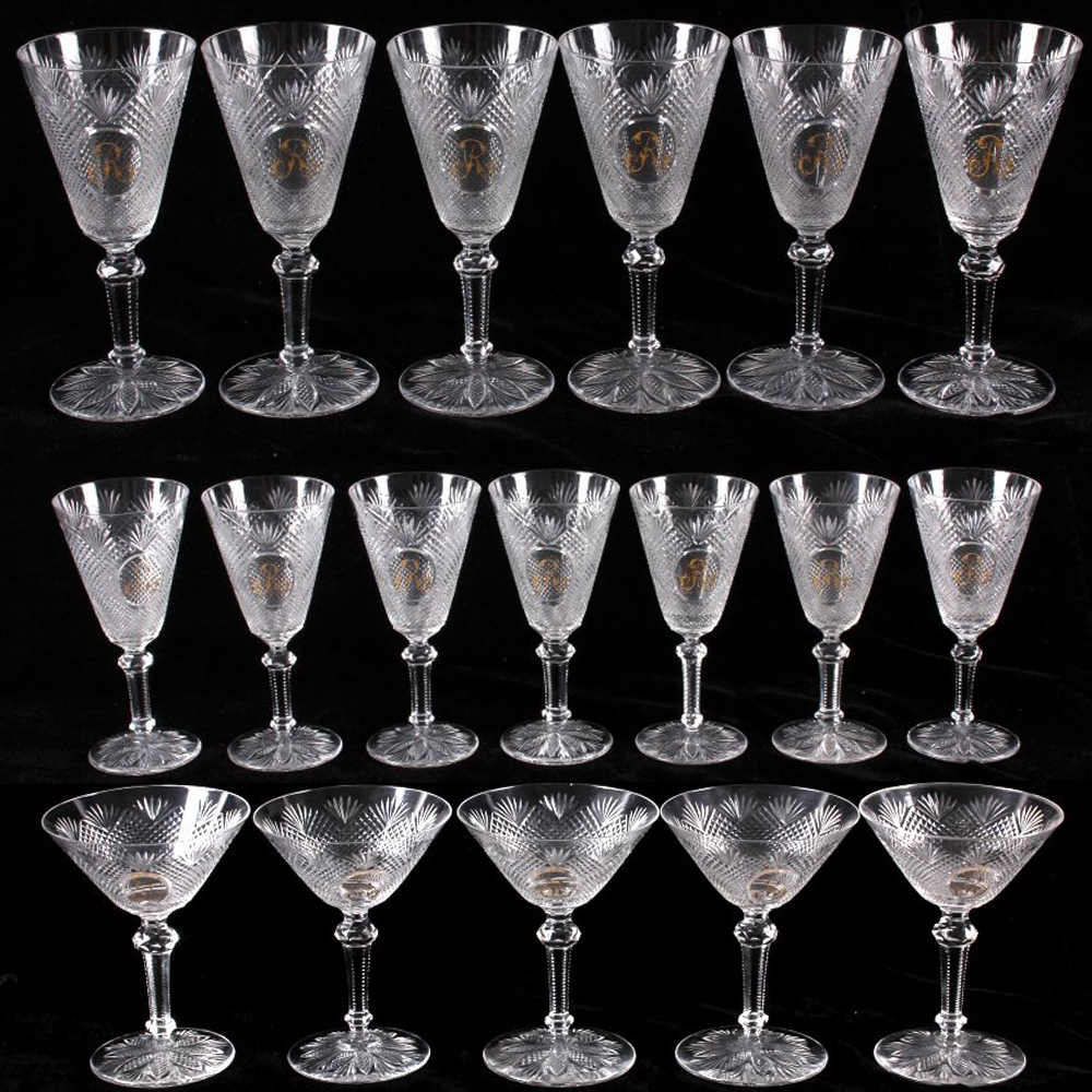 February 4th collector auction live north american auction company - Baccarat stemware ...